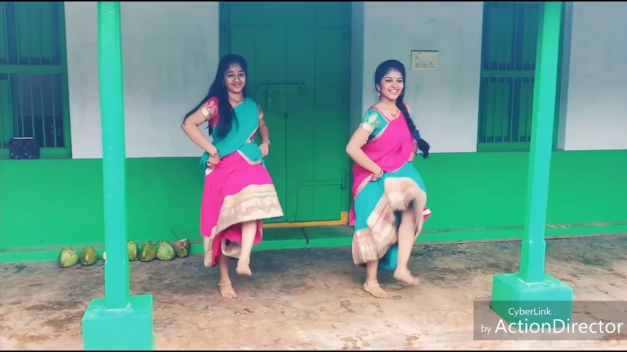 Two Girls Semma Dance In Half Saree