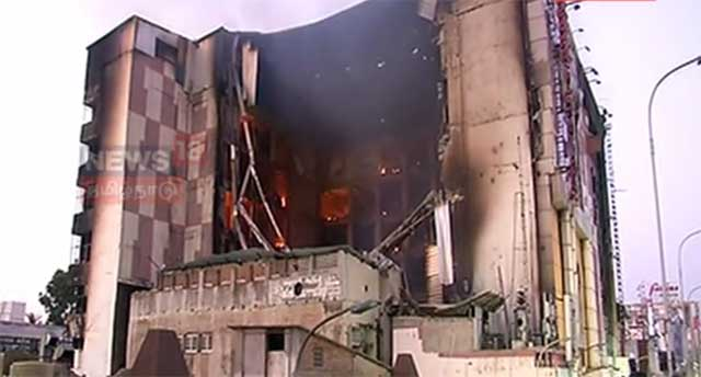 Chennai Silks Building Collapsed Nearly 24 hours After Fire