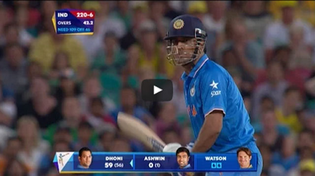 Dhoni 5 sixes in one over