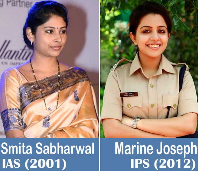 Beautiful and Admire Woman IAS, IPS Officers of India