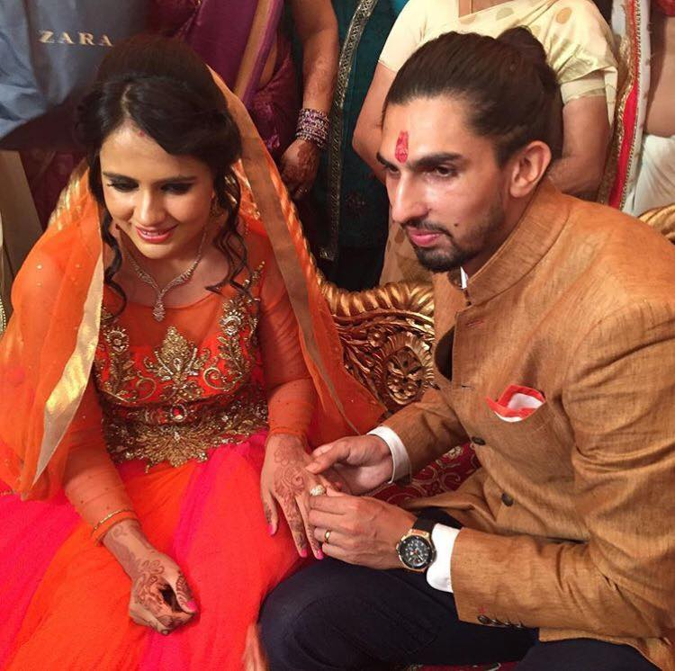 Ishant Sharma and Pratima Singh Engagement Photos
